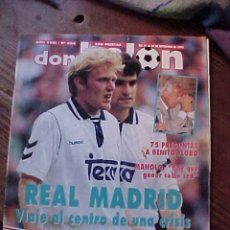 Coleccionismo deportivo: DON BALON Nº 934, SEPT 1993. REAL MADRID VIAJE AL CENTRO DE UNA CRISIS.(SIN POSTER). Lote 10376490
