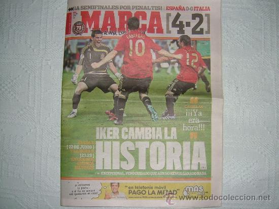 Periodico Marca Espana 4 Italia 2 Pasamos De Comprar Periodicos