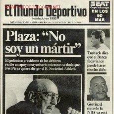 Coleccionismo deportivo: PERIODICO EL MUNDO DEPORTIVO : ENERO 1990 . Lote 2896593