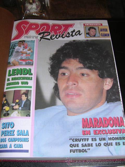 REVISTA SPORT, SUPLEMENTO DOMINICAL DEL 14 DE FEBRERO DE 1988 AL 26 DE JUNIO DE 1988 - 21 NUMEROS (Coleccionismo Deportivo - Revistas y Periódicos - Sport)