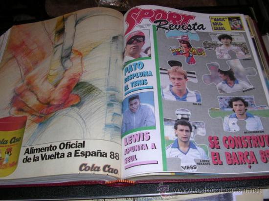 Coleccionismo deportivo: REVISTA SPORT, SUPLEMENTO DOMINICAL DEL 14 DE FEBRERO DE 1988 AL 26 DE JUNIO DE 1988 - 21 NUMEROS - Foto 3 - 9800667