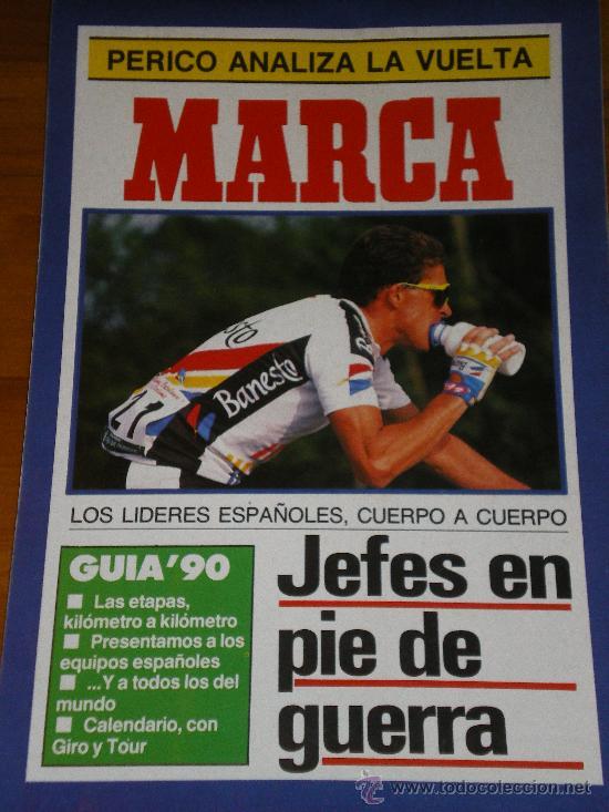 MARCA. SUPLEMENTO PERIODICO. VUELTA A ESPAÑA 90 (Coleccionismo Deportivo - Revistas y Periódicos - Marca)