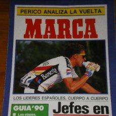 Coleccionismo deportivo: MARCA. SUPLEMENTO PERIODICO. VUELTA A ESPAÑA 90. Lote 27356283