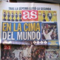 Coleccionismo deportivo: PERIODICO DIARIO AS REAL MADRID CAMPEON DE LA INTERCONTINENTAL - SEGUNDA. Lote 26323058