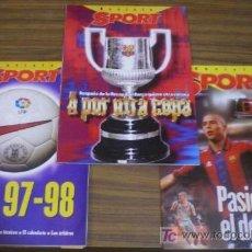 Coleccionismo deportivo: 3 REVISTA SPORT: A POR OTRA COPA / PASIÓN POR EL DEPORTE / LIGA 97-98 PLANTILLAS,FICHAJES,TÉCNICOS--. Lote 26012354