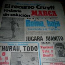 Colecionismo desportivo: MARCA 19/02/1977 + 16 PAGINAS MARCA 5/02/1977. REINA, JUANITO, THURAU, LORA, PEREIRA, EVANGELISTA.... Lote 11070042