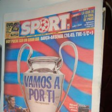 Coleccionismo deportivo: BARÇA : PREVIA DE LA FINAL DE LA CHAMPIONS DE 2006. DIARIO SPORT. Lote 26471809