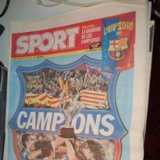 Coleccionismo deportivo: EL BARÇA CAMPEÓN DE LIGA DE LA TEMPORADA 2004-05. DIARIO SPORT. Lote 26471807