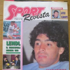 Collectionnisme sportif: REVISTA SPORT SUPLEMENTO DEPORTIVO SEMANAL NUMERO 1 MARADONA PORTADA POSTER DE IVAN LENDL. Lote 26181679
