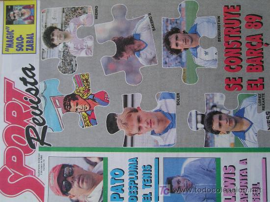 REVISTA SPORT SUPLEMENTO DEPORTIVO NUMERO 13 POSTER CARL LEWIS (Coleccionismo Deportivo - Revistas y Periódicos - Sport)