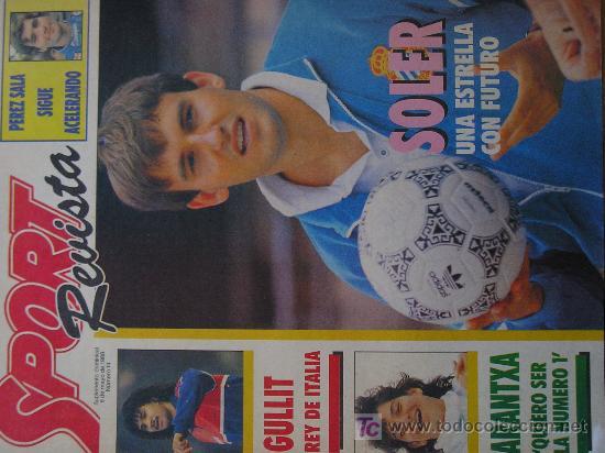 REVISTA SPORT SUPLEMENTO DEPORTIVO NUMERO 14 POSTER GULLIT (Coleccionismo Deportivo - Revistas y Periódicos - Sport)