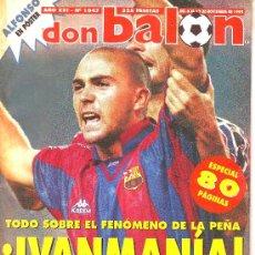 Coleccionismo deportivo: DON BALON Nº 1047, NOVIEMBRE DE 1995:DE LA PEÑA EN EL BARÇA,ENTREVISTA A SUKER Y A MAURO SILVA.RAUL. Lote 12985473