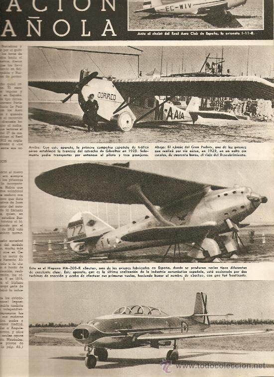MUNDO HISPANICO.AÑO 1955.ANIS DEL MONO.ESTRELLAS EN MADRID.AVIACION BODAS DE ORO. (Coleccionismo Deportivo - Revistas y Periódicos - Marca)