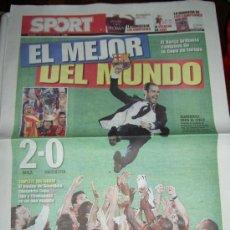 Coleccionismo deportivo: DIARIO SPORT 28 - 05 - 09 FUTBOL CLUB BARCELONA CAMPEON EUROPA CAMPIONS LEAGUE 2009. Lote 98569674