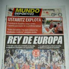 Coleccionismo deportivo: DIARIO EL MUNDO DEPORTIVO FUTBOL CLUB BARCELONA CAMPEON EUROPA CAMPIONS CHAMPIONS LEAGUE 2009. Lote 17542397