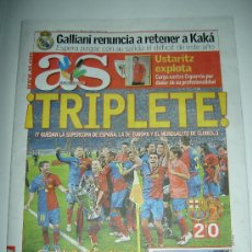 Coleccionismo deportivo: DIARIO AS FUTBOL CLUB BARCELONA CAMPEON EUROPA CHAMPIONS LEAGUE 2009 , . Lote 27104996