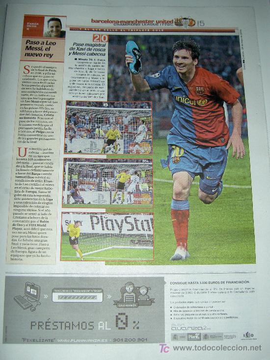 Coleccionismo deportivo: DIARIO AS FUTBOL CLUB BARCELONA CAMPEON EUROPA CHAMPIONS LEAGUE 2009 , - Foto 4 - 27104996