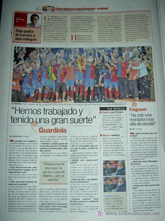 Coleccionismo deportivo: DIARIO AS FUTBOL CLUB BARCELONA CAMPEON EUROPA CHAMPIONS LEAGUE 2009 , - Foto 5 - 27104996