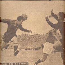 Coleccionismo deportivo: VIDA DEPORTIVA Nº 198 1949 EL PRIMER GOL DE BASORA PARA ESPAÑA COLOMBES C F ARENYS. Lote 14120205