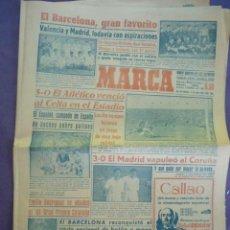 Coleccionismo deportivo: MARCA DIARIO-AÑO VIII 1949-1981-BARCELONA FAVORITO,EL VALENCIA Y MADRID TODAVIA CON ASPIRACIONES. Lote 21132518