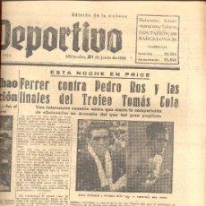 Collectionnisme sportif: EL MUNDO DEPORTIVO Nº 6450 1944 ATLETICO BILBAO AVIACION RICARDO ZAMORA JUANITO URQUIZU. Lote 15836857