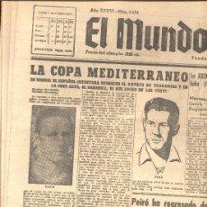 Coleccionismo deportivo: EL MUNDO DEPORTIVO Nº 6456 1944 LA COPA MEDITERRANEO ESPAÑOL TARRAGONA SABADELL RAICH JUGO. Lote 15837380