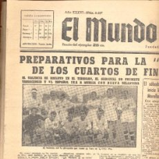 Coleccionismo deportivo: EL MUNDO DEPORTIVO Nº 6427 1944 ALINEACION DEL VALENCIA EN LA CRUZ ALTA SABADELL. Lote 15966694