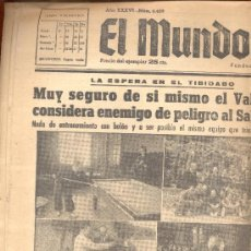 Coleccionismo deportivo: EL MUNDO DEPORTIVO Nº 6429 1944 VALENCIA RETIRO EN EL TIBIDABO GOROSTIZA LLACER ANDRES BALSA CUBELLS. Lote 15966856