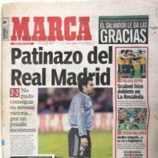 Coleccionismo deportivo: DIARIO MARCA DEL 22/01/2001 - PATINAZO DEL REAL MADRID. CARLOS SAINZ: COMENZO CON BUEN PIE EL 2001. Lote 22499581