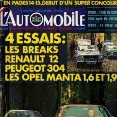 Coleccionismo deportivo: L'AUTOMOBILE SPORT MECANIQUE Nº 295 12.1970 - EN FRANCES. Lote 19767945