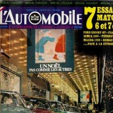 Coleccionismo deportivo: L'AUTOMOBILE SPORT MECANIQUE Nº 296 01.1971 - EN FRANCES. Lote 19767946
