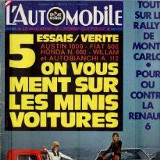 Coleccionismo deportivo: L'AUTOMOBILE SPORT MECANIQUE Nº 297 02.1971 - EN FRANCES. Lote 19767947
