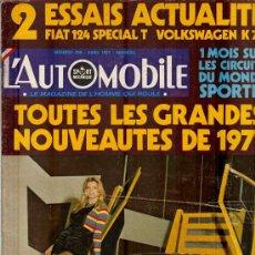 Coleccionismo deportivo: L'AUTOMOBILE SPORT MECANIQUE Nº 299 04.1971 - EN FRANCES. Lote 19767948