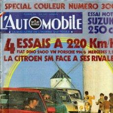 Coleccionismo deportivo: L'AUTOMOBILE SPORT MECANIQUE Nº 300 05.1971 - EN FRANCES. Lote 19767949