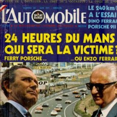 Coleccionismo deportivo: L'AUTOMOBILE SPORT MECANIQUE Nº 301 06.1971 - EN FRANCES. Lote 19767950