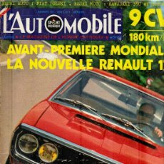 Coleccionismo deportivo: L'AUTOMOBILE SPORT MECANIQUE Nº 303 08.1971 - EN FRANCES. Lote 19767952