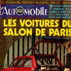 Coleccionismo deportivo: L'AUTOMOBILE SPORT MECANIQUE Nº 304 09.1971 - EN FRANCES. Lote 19767953