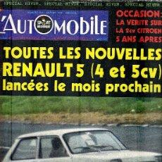 Coleccionismo deportivo: L'AUTOMOBILE SPORT MECANIQUE Nº 308 01.1972 - EN FRANCES. Lote 19767956