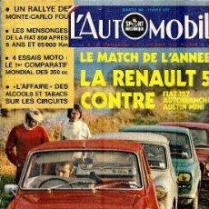 Coleccionismo deportivo: L'AUTOMOBILE SPORT MECANIQUE Nº 309 02.1972 - EN FRANCES. Lote 19767957