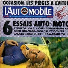 Coleccionismo deportivo: L'AUTOMOBILE SPORT MECANIQUE Nº 312 05.1972 - EN FRANCES. Lote 19767959