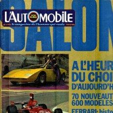 Coleccionismo deportivo: L'AUTOMOBILE SPORT MECANIQUE Nº 341 10.1974 - EN FRANCES. Lote 20014679