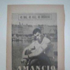 Coleccionismo deportivo: AMANCIO. EL ZARRITA GALLEGO. 1964. MARCA. 40 DÍAS, 40 ASES, 40 BIOGRAFIAS. Lote 16412407