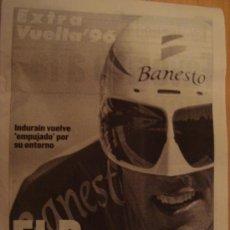 Coleccionismo deportivo: PERIODICO SPORT EXTRA CICLISMO VUELTA'96. Lote 24872156