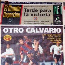 Coleccionismo deportivo: DIARIO EL MUNDO DEPORTIVO // RACING DE SANTANDER 5 FC BARCELONA 0 // 12 DE FEBRERO DE 1995. Lote 16893548