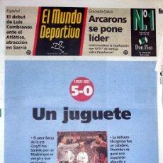 Coleccionismo deportivo: DIARIO EL MUNDO DEPORTIVO // REAL MADRID 5 FC. BARCELONA 0 // 8 DE ENERO 1995. Lote 16893601