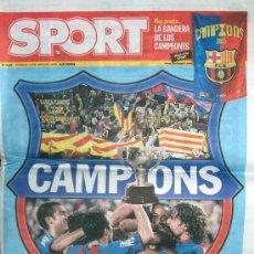 Coleccionismo deportivo: DIARIO SPORT // FC BARCELONA // CAMPIONS // 15 DE MAYO DE 2005. Lote 17028901