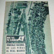 Coleccionismo deportivo: ANTIGUA REVISTA DEL REAL MADRID - FUTBOL - MAYO 1961 - Nº 132 - HOMENAJE NACIONAL DE LAS PEÑAS AL R. Lote 17155386