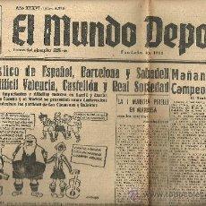 Coleccionismo deportivo: EL MUNDO DEPORTIVO Nº 6358 1944 SABADELL VALENCIA CASTELLON XXIV CAMPEONATO TARRASA CROSS CATALUÑA . Lote 17321171