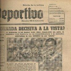 Coleccionismo deportivo: EL MUNDO DEPORTIVO Nº 6344 1944 EQUIPO DEL CENTRO DE DEPORTES SABADELL. Lote 17334244
