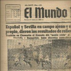 Coleccionismo deportivo: EL MUNDO DEPORTIVO Nº 6325 1944 DOS INTENTONAS DE MARTIN EDERRA BLOCA UN TIRO DEL PINO FRANCAS . Lote 17609187
